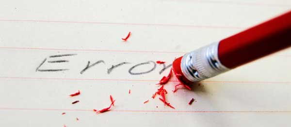 10 Errores que estas cometiendo y que no te dejan avanzar